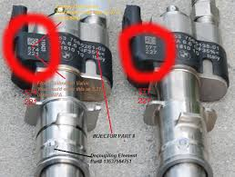 BMW piezo injector flow rate data