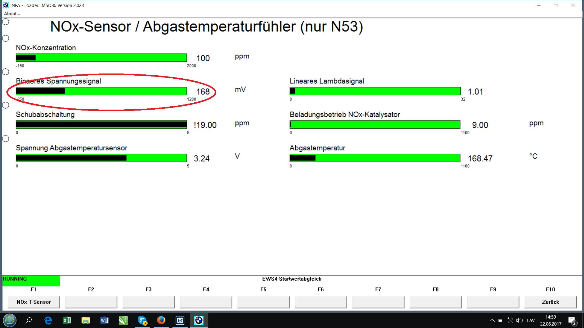 BMW diagnostics N43 N53 OBD INPA ISTA error messages CAN dCAN