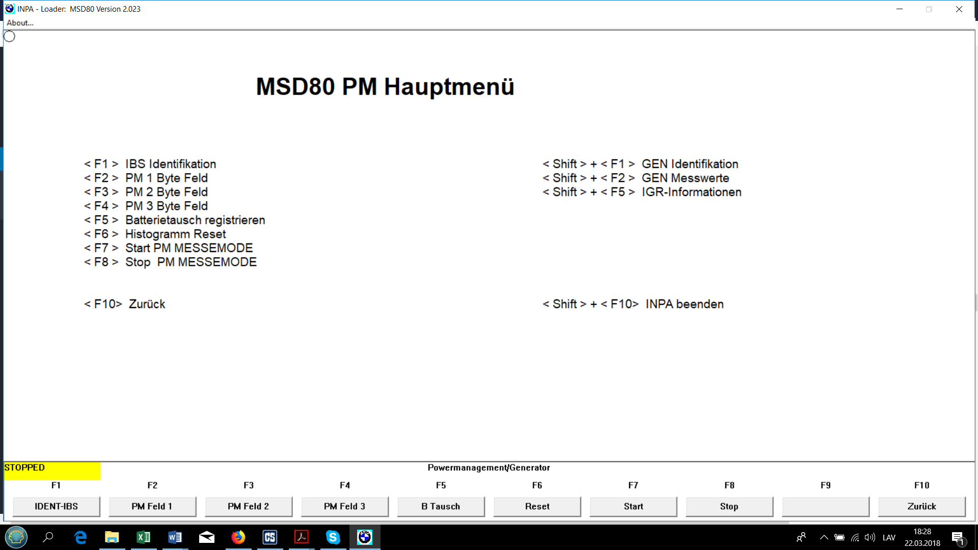 Diagnostics With Inpa Part 2 Wide Band Fuel Mixture Display Adaptations Menu Displays