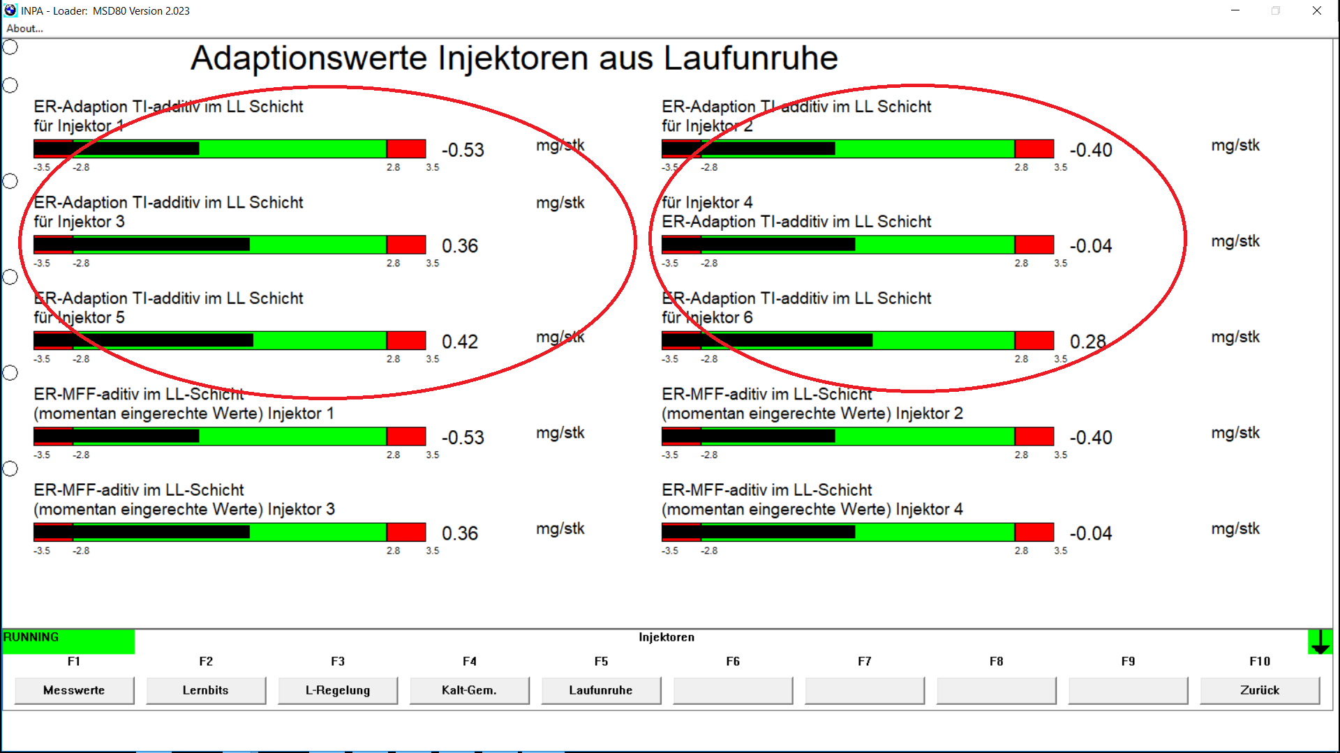 Idle. Measurements of mechanical efficiency | Bimmerprofs.com | NOx  emulator NOXEM 129 | 130 | 402 developed for BMW N43 & N53 series engines